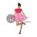 grossiste Jupes: déguisement de rock 50's femme rose taille xl
