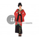 wholesale Costume Fashion: Black & Red Chinese Dress with Size X Patterns