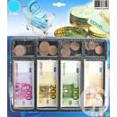 veel van de eurobiljetten en-munten