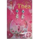 mayorista Perlas: adorno de joyería tiara y los pendientes théa