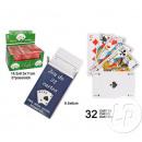 un conjunto de 32 cartas azul 9x5,6cm / rojo