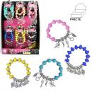 grossiste Bijoux & Montres: bracelet avec  perles en plastique mix