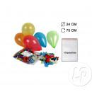 lot 100 palloni di elio a 24 centimetri Multicolor