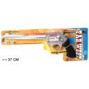 grossiste Lunettes: pistolet bruiteur  à long canon & étincelles 37cm