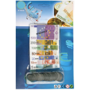 gran cantidad de billetes y monedas en euros