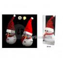 luminous figurine crystal snowman 20cm