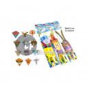 Großhandel Outdoor-Spielzeug:kite 66x61cm mix