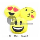 groothandel Kussens & Dekens:Kussen emoticon 15cm mix