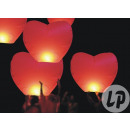 Chinese flying lantern red heart
