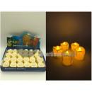 24 Kerzen weiße Aufsteller mit Aufsteller 4,5cm