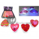 heart led bright adhesive with mix pattern 7.5cm