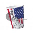 Großhandel Geschäftsausstattung: Satz von 10 Pappbecher USA 20cl