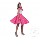 wholesale Skirts: skirt and scarf pink and white polka dots