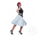 wholesale Skirts: white polka dot skirt and scarf