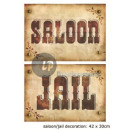 panel saloon / jail 29x41cm