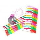 wholesale Garden & DIY store: lot 24 plastic whistles 4cm