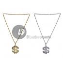 grossiste Bijoux & Montres: collier métallique dollar argent