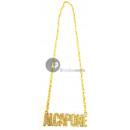 grossiste Bijoux & Montres: collier métallique doré al capone
