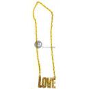 grossiste Bijoux & Montres: collier métallique doré love