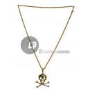 grossiste Bijoux & Montres: collier métallique doré pirate