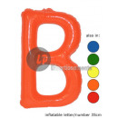 'B' letter opblaasbare 35cm