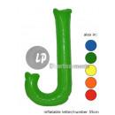 'J' letter opblaasbare 35cm