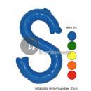 'S' letter opblaasbare 35cm