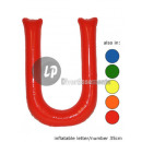'U' letter opblaasbare 35cm