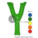 'Y' letter opblaasbare 35cm