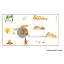 Großhandel Strümpfe & Socken: Satz von 12 Aufklebern aloha Inseln