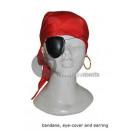 ingrosso Ingrosso Abbigliamento & Accessori: bandana rossa,  pirata oculare e l'anello
