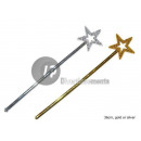 grossiste Bijoux & Montres: baguette de fée étoile 35cm or