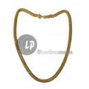 grossiste Bijoux & Montres: collier métallique chaînette doré