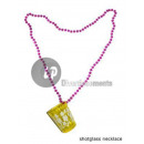 wholesale Drinking Glasses: shooter glass necklace with flowers