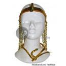 snake necklace & tiara Cleopatre Egyptische