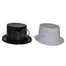 cappello a cilindro in forma plastica nera