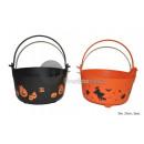 cauldron halloween orange / black 23cm