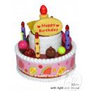 groothandel Kantoor- & winkelbenodigdheden: muziekdoos en  lichte cake gelukkige verjaardag