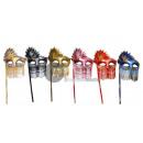 Venetiaans masker met strass houten wand