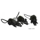 set van 3 ratten met fluitje 19cm