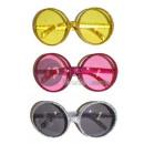 Großhandel Brillen: runde Brille mit silbernem Glitter Rotgold