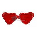 glazen met rode strass hart