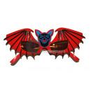 Gläser rote Fledermaus