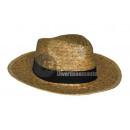Panama-Strohhut mit natürlichem Stirnband