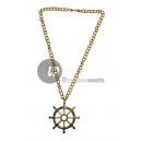 grossiste Bijoux & Montres: collier métallique gouvernail or