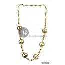 grossiste Bijoux & Montres:collier peace doré 100cm