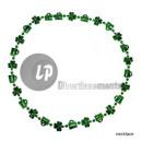 grossiste Bijoux & Montres: collier avec  trèfles & canettes saint patrick vert