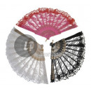wholesale Costume Fashion:pink & red lace fan
