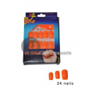 wholesale Nail Varnish: set of 24 false neon orange nails