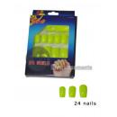 wholesale Nail Varnish: Lot of 24 false nails neon yellow neon